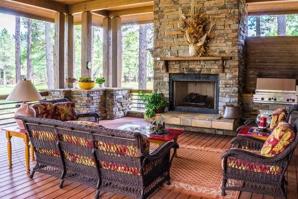 Example of boosting a home's value through a room with hardwood floors and a fireplace