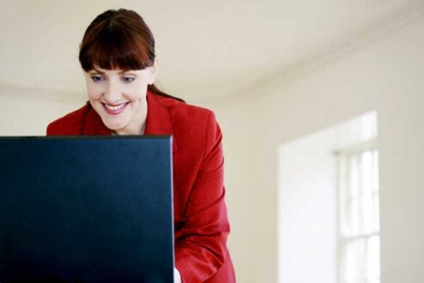 A real estate investor conducts research online before making a decision.