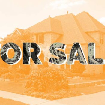 """For Sale"" sign in front of a house"