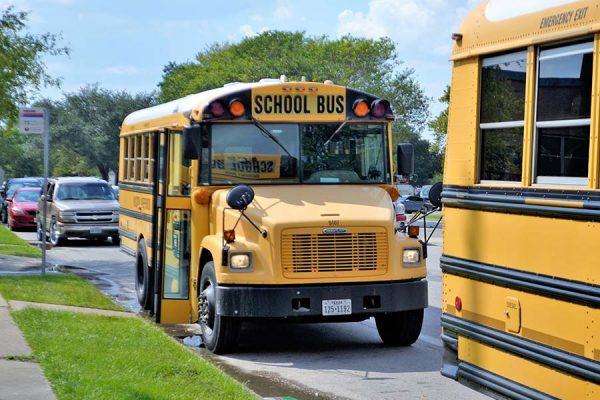School bus in a school district
